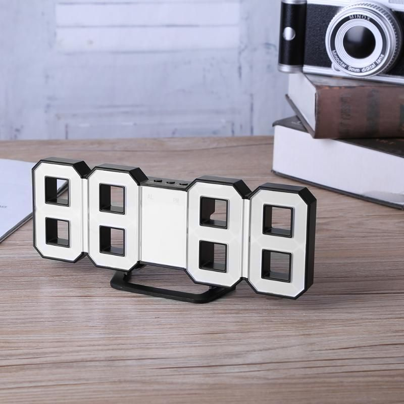 Digital LED Alarm Clock Upgrade Version 8888 Wall mechanism Alarm Snooze Desk Alarm Clock Office Home Decoration