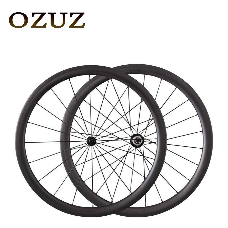 Powerway R13 Hubs 700C OZUZ 38mm 50mm Clincher Tubular Carbon Fiber Wheels Racing Touring 3K Matte Road Bicycle Wheel Wheelset