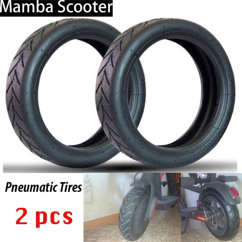 2 Pcs Inner Tubes Pneumatic <font><b>Tires</b></font> Inflation Tube for Xiaomi Mijia M365 Electric Scooter 8 1/2x2 Upgraded Thick Wheel Vacuum Tyre