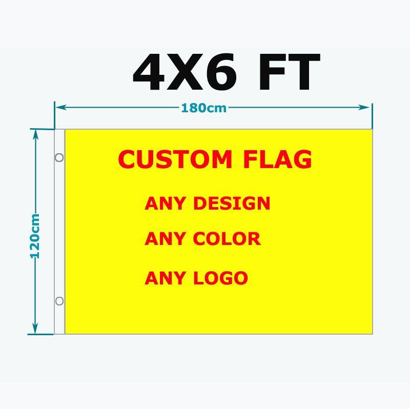 Livraison gratuite drapeau personnalisé 120*180 cm Polyester personnaliser drapeaux et bannières