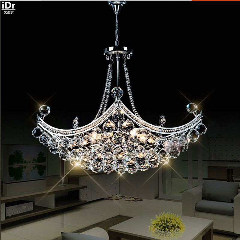 Creative Corsair exquisite crystal modern fashion minimalist living room restaurant bedroom LED Chandeliers Dia630xH400mm