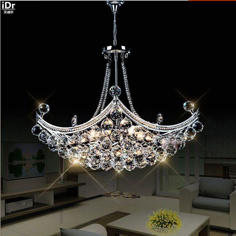 Creative Corsair exquisite crystal modern fashion minimalist living room restaurant bedroom LED Chandeliers Dia630xH400mm