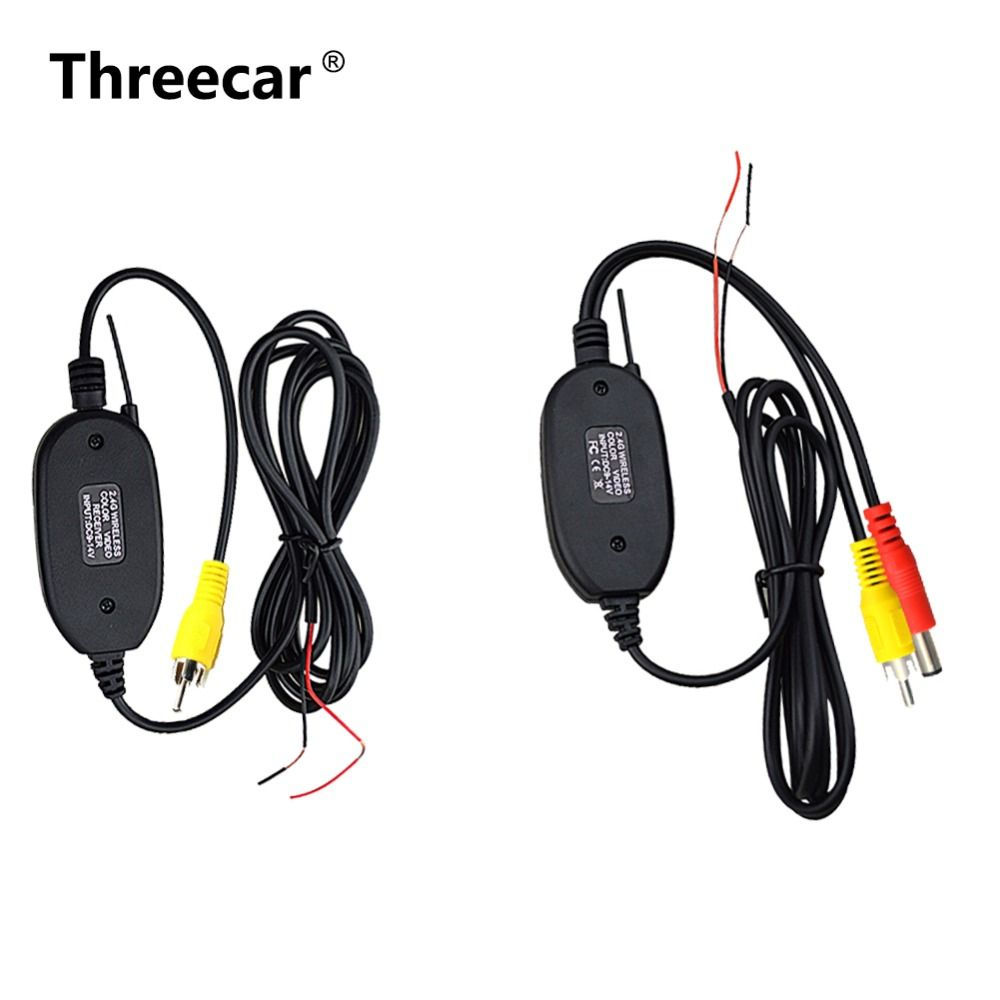 2.4 Ghz sans fil caméra de recul RCA vidéo transmetteur et récepteur Kit pour voiture moniteur de recul FM émetteur et récepteur