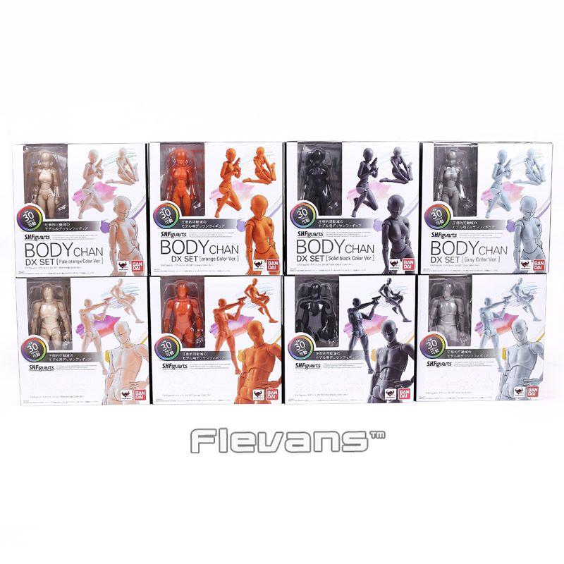 SHF SHFiguarts CORPS KUN/CORPS CHAN DX SET Action PVC Figure Collection Modèle Jouet avec support 4 Couleurs