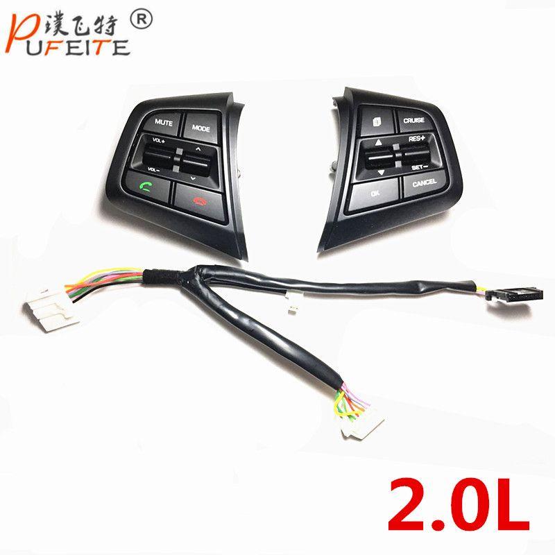 100% Original Steering Wheel Button For Hyundai ix25 (creta) 2.0 Cruise Control Buttons Remote Control Bluetooth Phone Button