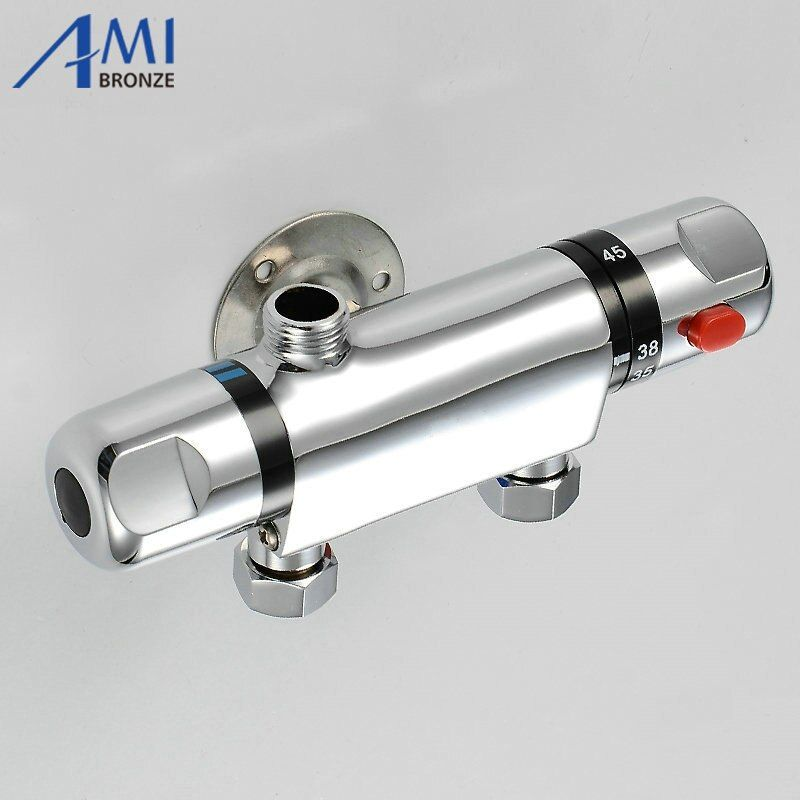 Temperature Control Thermostatic Shower Valve Faucet Mixer Tap Wall Mounted