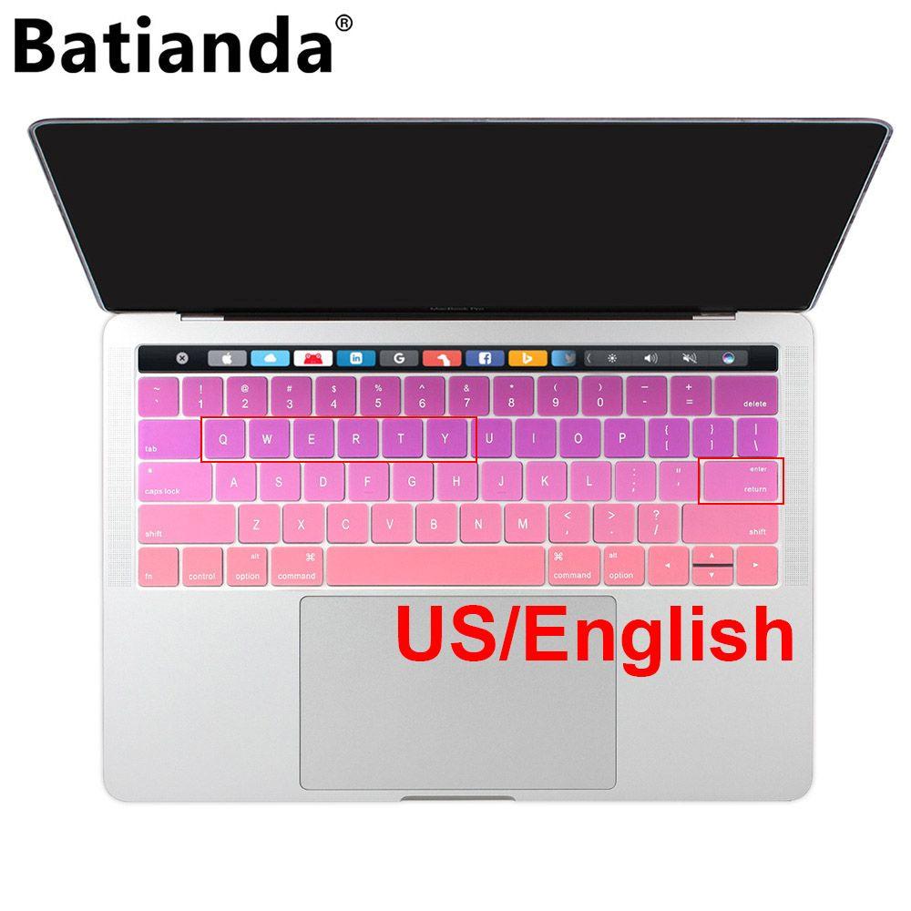 НАМ Макет английский розовый клавиатуры Обложка кожи силикон для MacBook Pro Retina 13