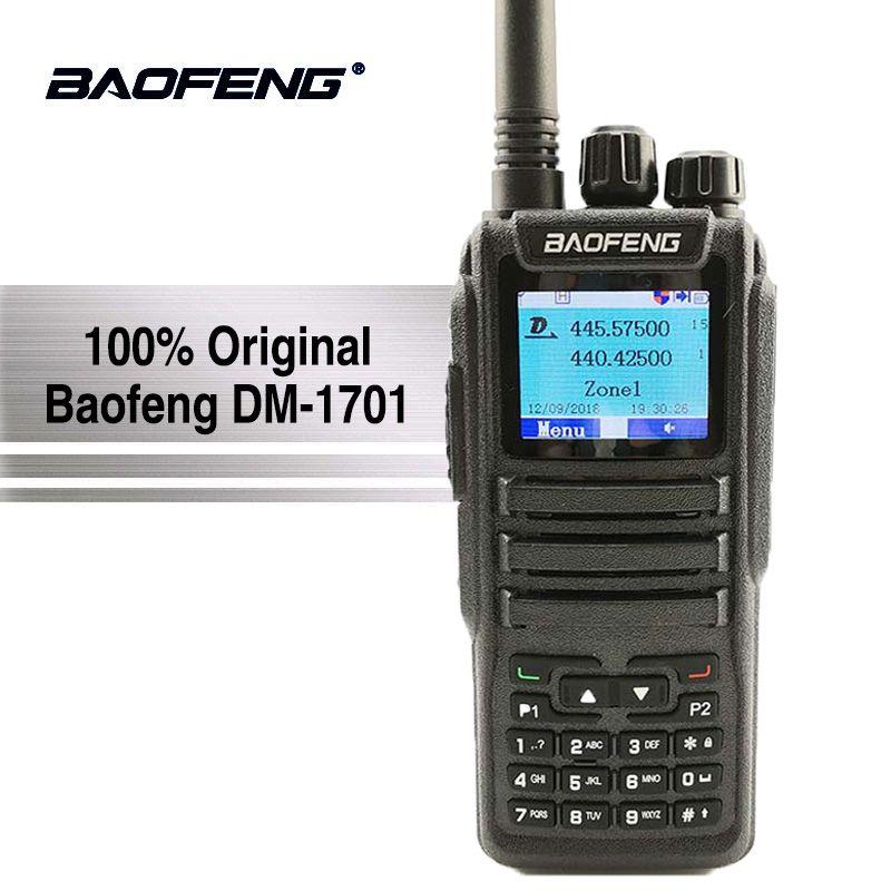 Baofeng Digital DM-1701 Walkie Talkie Tier 2 Dual Time Slot Dual Band Two Way Radio DMR Ham Amateur Radio Station HF Transceiver