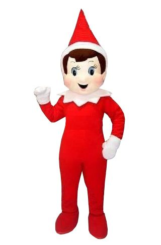 Halloween Creepy Elf Pinocchio On The Shelf Mascot Costumes Top Quality Adult Cartoon Creepy Elf Pinocchio Cartoon Costume