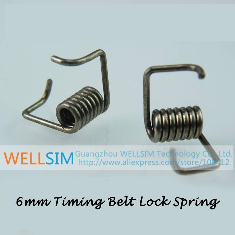 100Pcs/Lot 3D Printer Accessories 304 stainless steel Timing Belt Locking Springs Torque Spring Wide 6MM