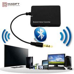 Bluetooth передатчик беспроводную передачу Мини Bluetooth аудио передатчик 3.5 мм A2DP стерео Dongle адаптер для Ipod ТВ Mp3 Mp4 PC Динамик