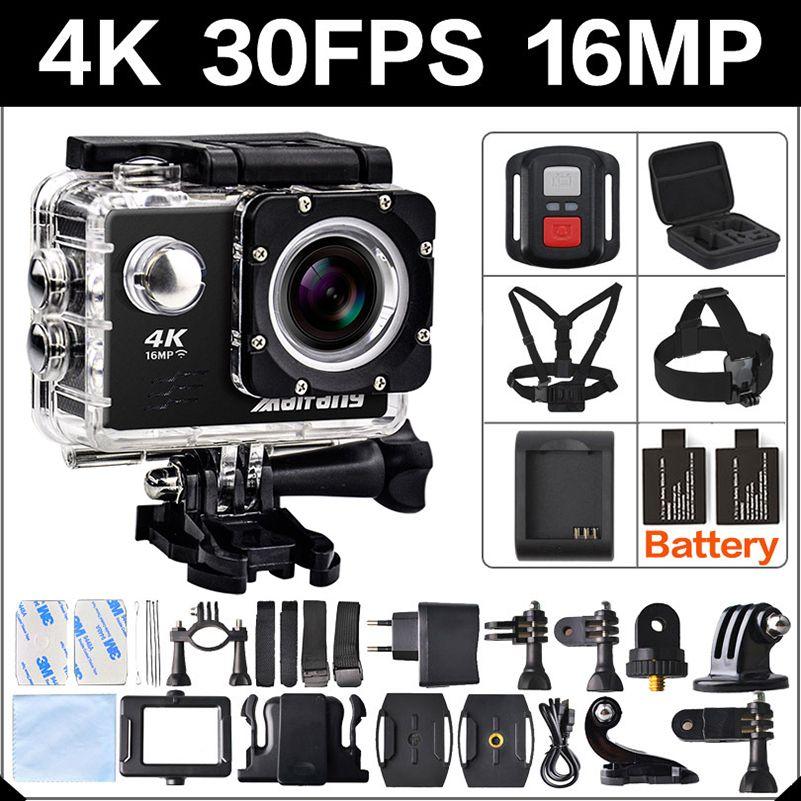 4 Karat 30FPS 16MP WIFI Action Kamera 2 Sport HD 1080 P 60fps Cam unterwasser deportiva gehen wasserdichte 4 Karat 170D mini 3 pro sport Cam