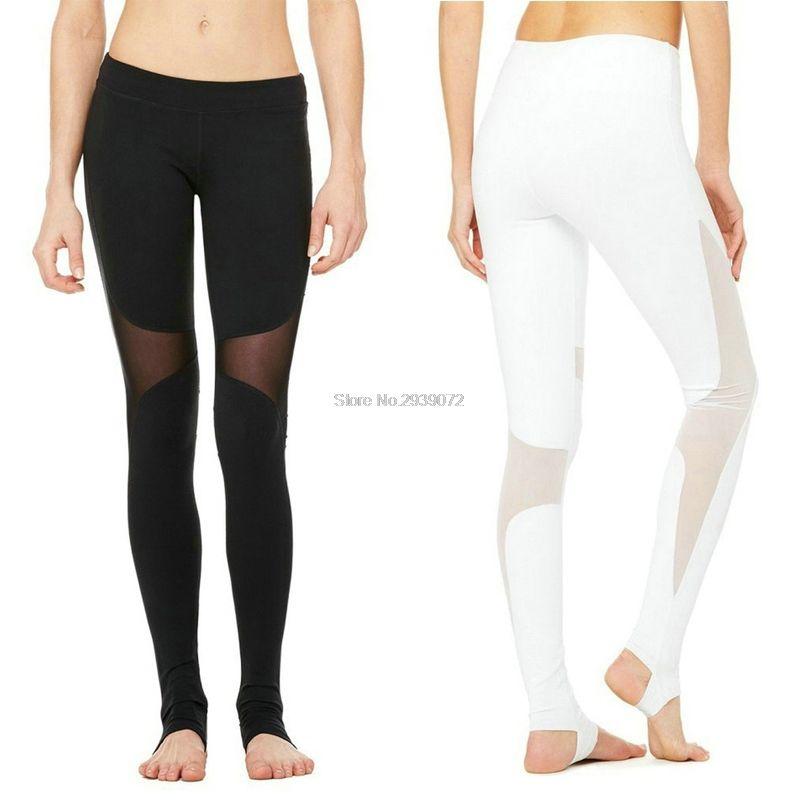 Compression Lulu Sexy maille Yoga pantalon entraînement collants course athlétique leggins sport femmes fitness Gym pantalon sport leggings