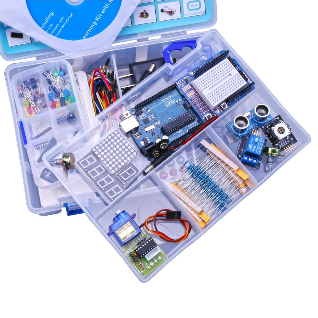 Robotlinking Upgraded Advanced Version Starter DIY Kit <font><b>Learn</b></font> Suite Kit LCD 1602 for UNO R3 With CD Tutorial