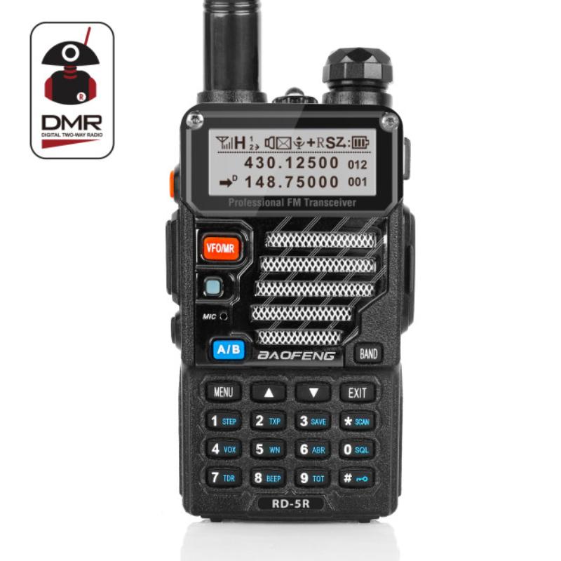 Baofeng RD-5R DMR Tier II VFO Digital Dual Band 136-174/400-470MHz Two way Radio Walkie Talkie Ham Transceiver