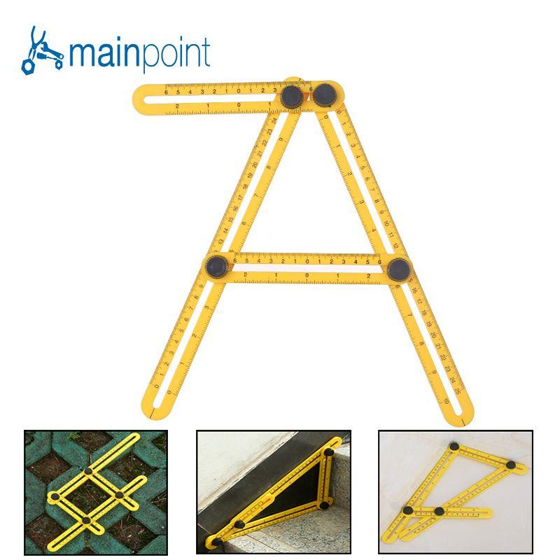 Mainpoint Folding Füße Einstellbare vierseitige Herrscher Alle Winkel Genaue Messgerät Builders Geborene Handwerker Ingenieur