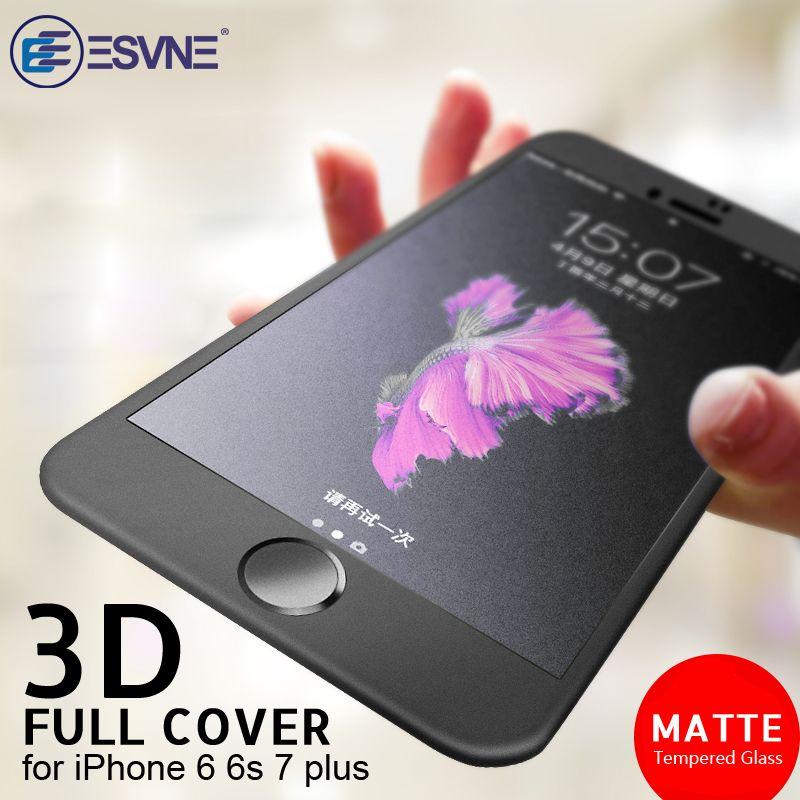 ESVNE 3D Soft edge Matte Tempered Glass for iphone 6 7 Glass Premium Film 9H Hardness 6s plus Screen Protector Anti-Fingerprint