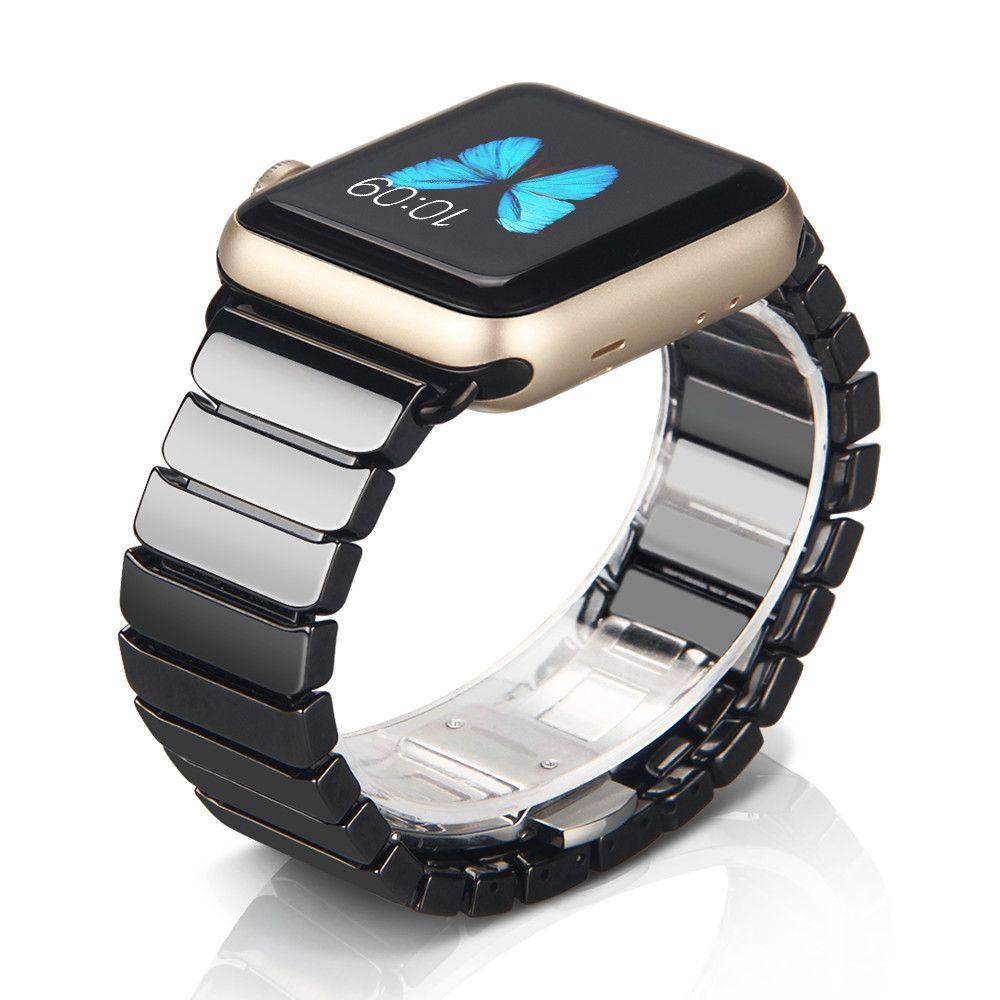 Ceramic Watchband for Apple Watch <font><b>Band</b></font> 38mm 42mm Smart Watch Links Bracelet Ceramic Watchband for Apple watch Series 4 3 2 1