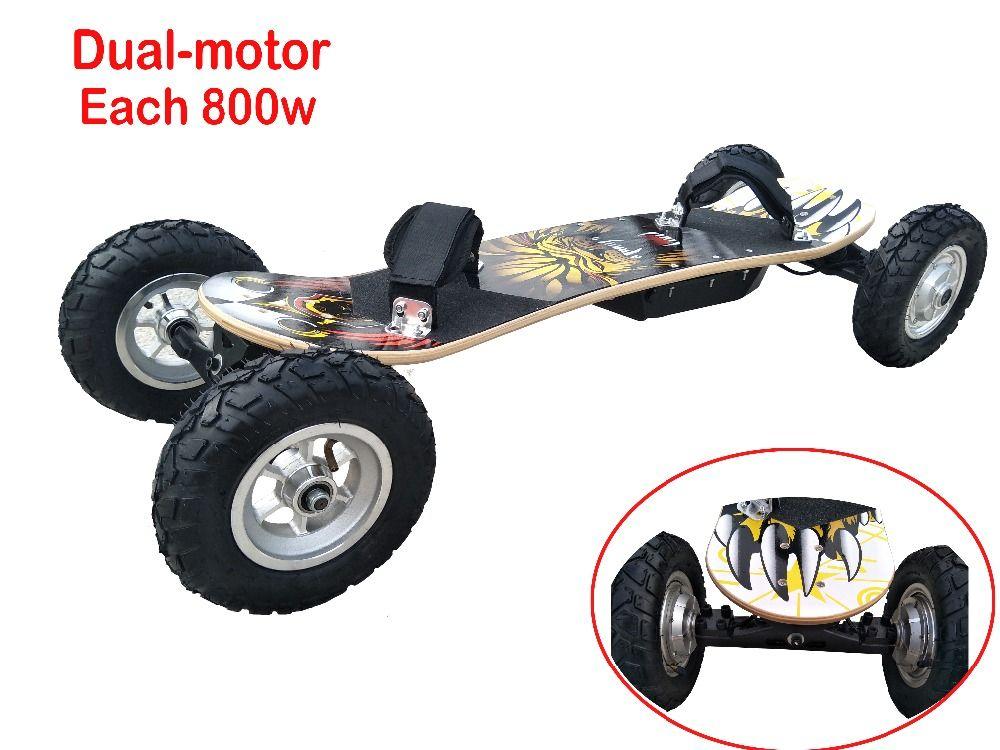 Elektrische Roller Offroad Elektrische Skateboard 36 v Lithium-Batterie Fernbedienung 4 Räder