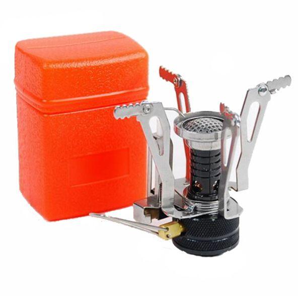 Mini poêles de Camping pliant extérieur cuisinière à gaz Portable four cuisson pique-nique Split poêles cuisinière brûleurs