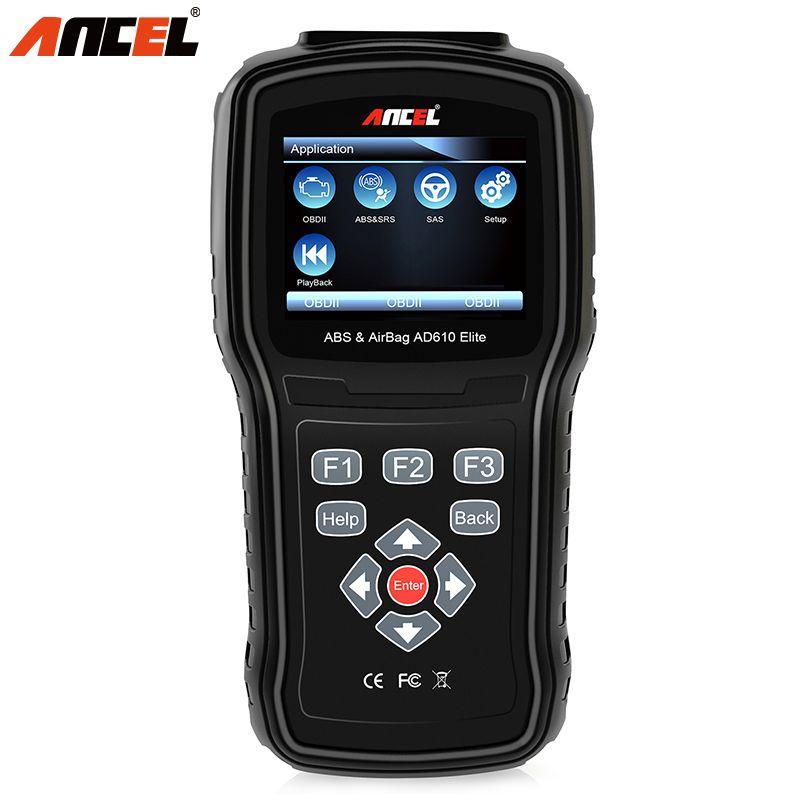 Ancel AD610 OBD2 OBD 2 ODB2 Car Engine Diagnostic Tool ABS SAS SRS Airbag Crash Data Reset Tool OBD II Auto Automotive Scanner