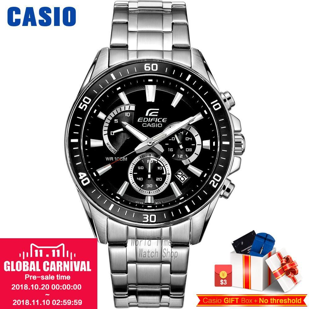 Casio watch Edifice Men's Quartz Sports Watch Urban Fashion Chronograph waterproof watch EFR-552