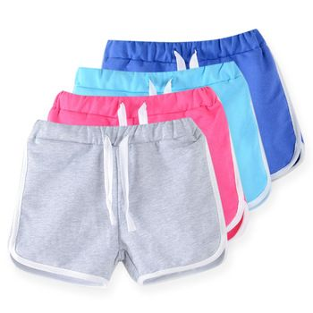 Enfants vêtements 2017 nouvelle couleur de sucrerie filles court chaude d'été garçons plage pantalons shorts 0902