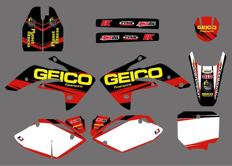 GRAPHICS & BACKGROUNDS DECALS STICKERS Kits for Honda CRF150R LIQUID COOLED 2007 2008 2009 2010 2011 2012 CRF 150R CRF150 R