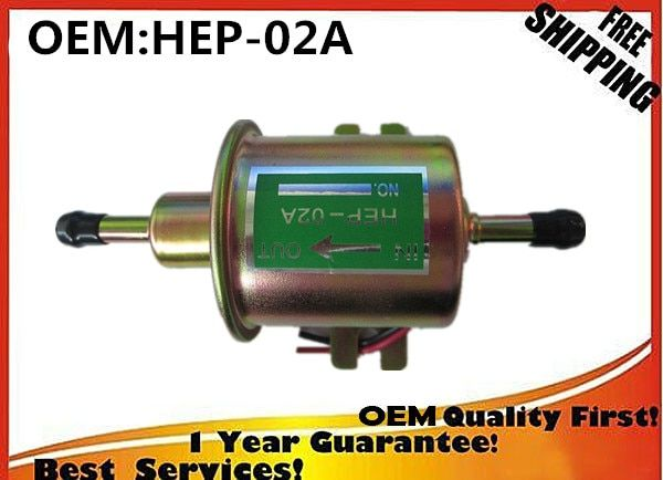 TOP new HEP-02A  HEP 02A  12V Electric Fuel Pump Low Pressure Bolt Fixing Wire Diesel Petrol   NEW