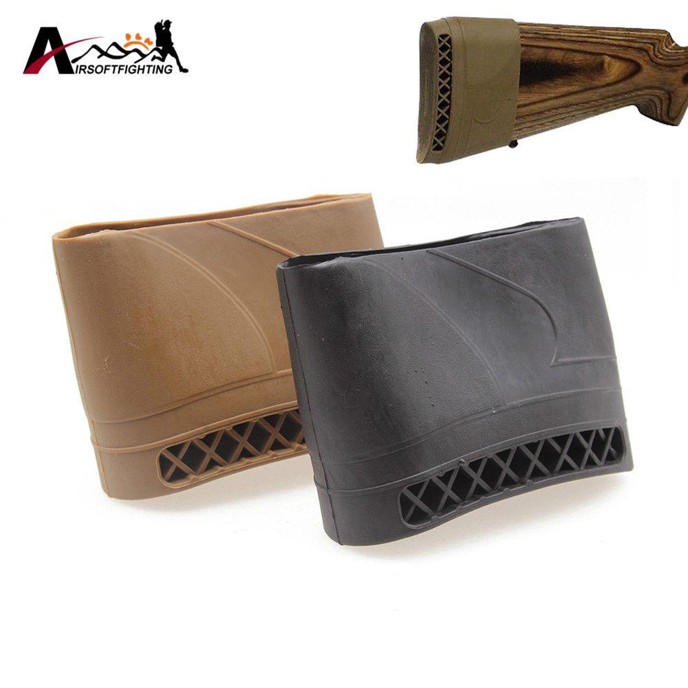 Tactical Jagd Gewehr Gummi Recoil Pad Anti-Rutschfestigkeit Pad Airsoft Jagd-schießen Verlängerung Gun Butt Schutz Gummi #