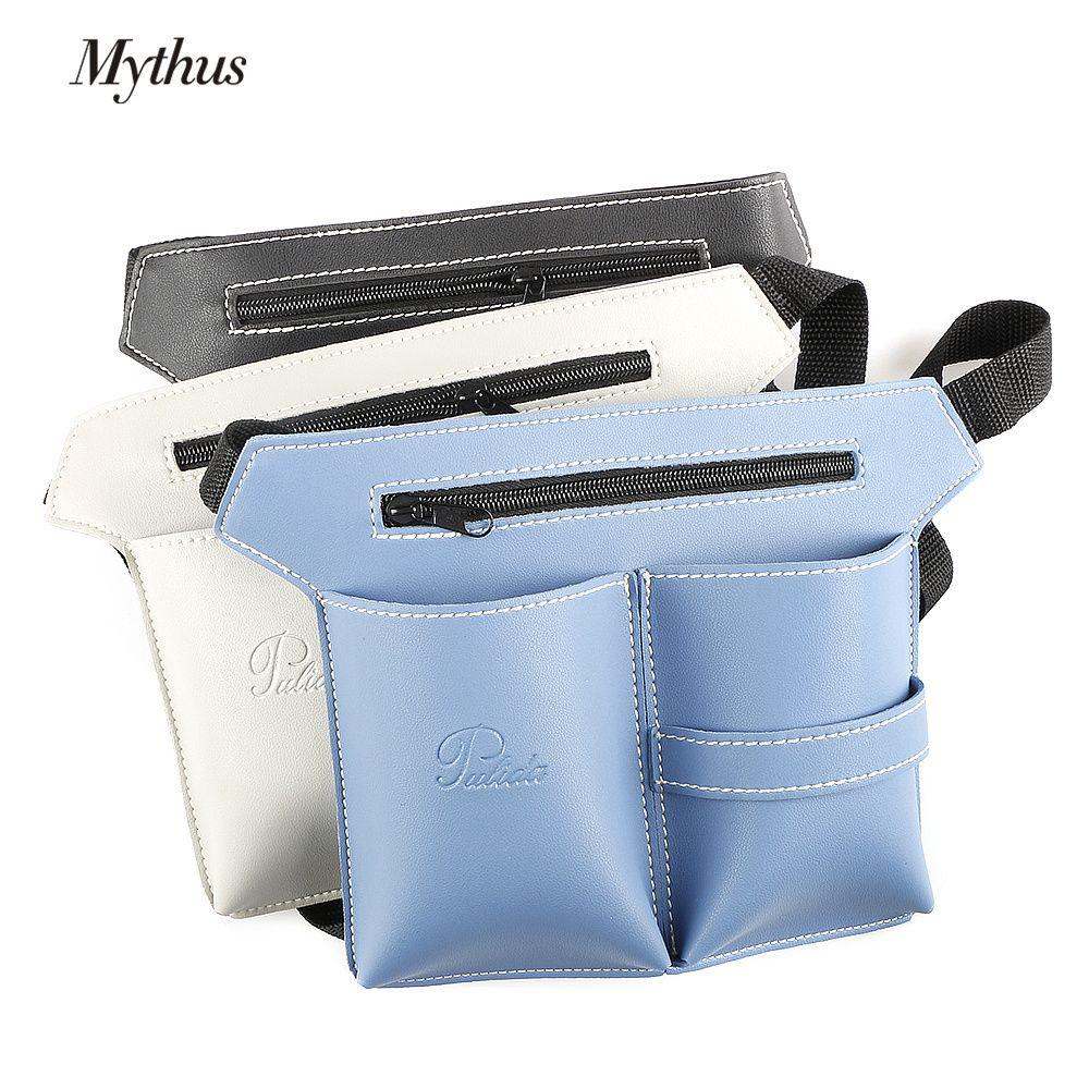 Haute qualité PU cuir outils de coiffure sac réglable Salon de coiffure taille sac ciseaux poche sac pour Salon de coiffure outils