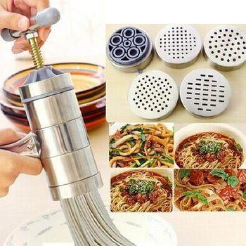 Ménage en acier Inoxydable mini machine à pâtes machine de pressage manuel cuisine Nouilles Outils ss1324