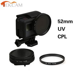 Tekcam for Gopro Hero 5 52mm UV/CPL Circular Polarizing Filters with lens cap protector for Gopro hero5 hero6 Black Accessories