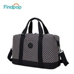Findpop Nylon Women's Travel Bag 2018 Casual Plaid Travel Totes Large Capacity Waterproof Luggage Bag Business Travel Duffle Bag