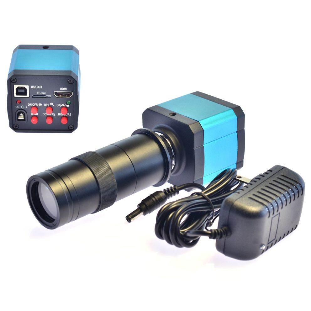 14MP HDMI usb HD Industry Video Microscope Camera Digital Zoom1080p 60Hz Video Output +100X C-mount Lens for mobile phone repair