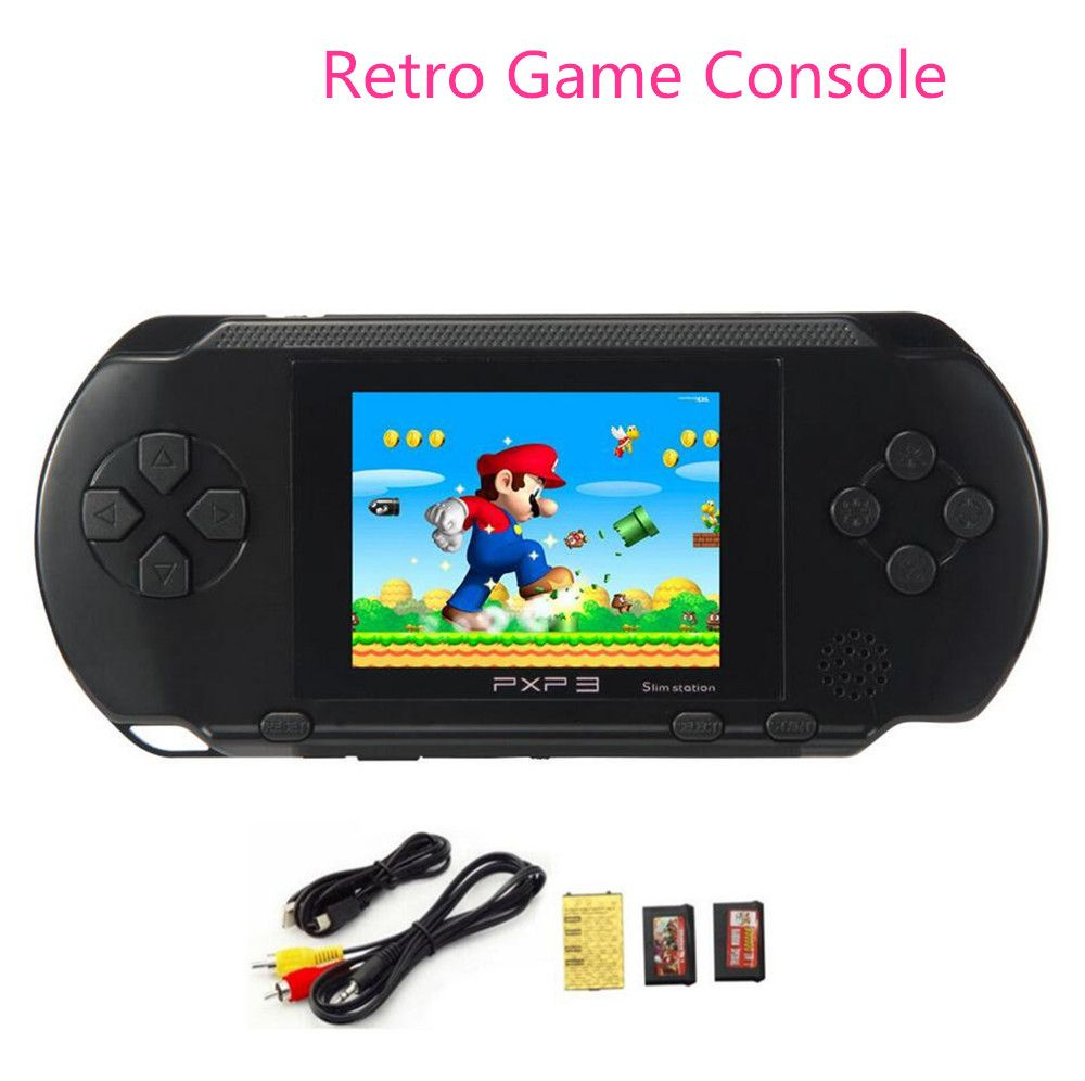 Vente chaude 2.7 pouces 16 Bit Portable PXP3 SLIM Portable Vidéo Les Joueurs de jeux de Jeux Console avec 160 Jeux + 2 pcs Jeu carte