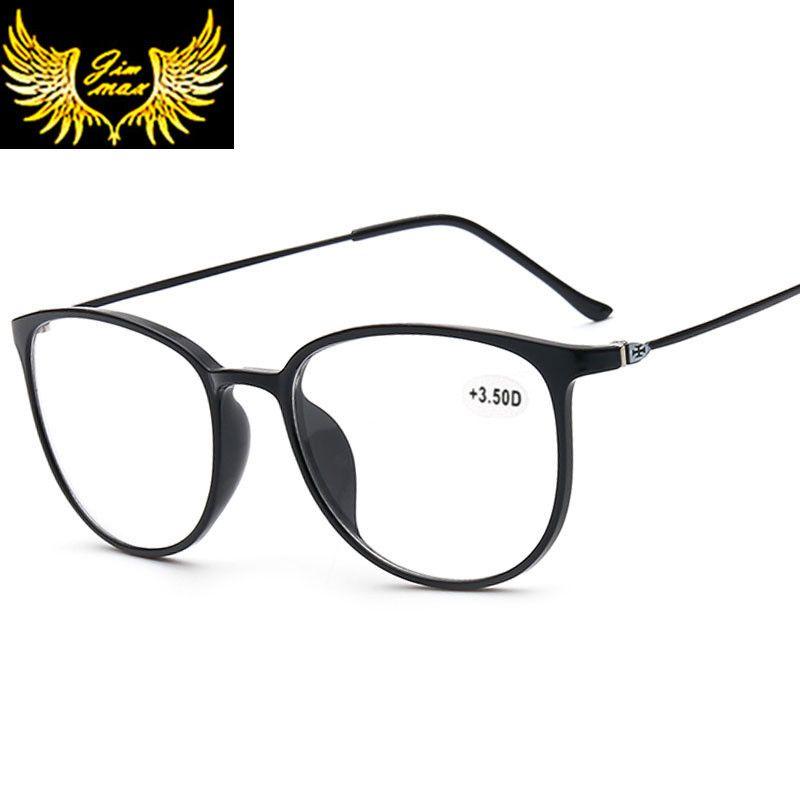 Nouveau Design femmes Style CR39 lentilles lunettes de lecture mode pleine jante ronde presbytie lunettes pour femmes oculos de leitura