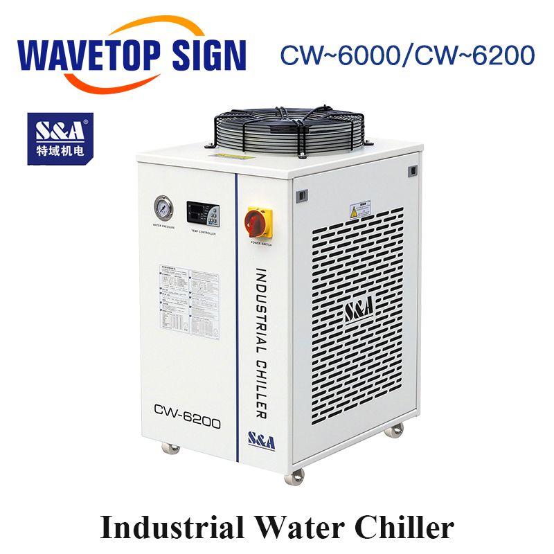 WaveTopSign S & A CW-6000AH CW-6200AH CW-6200BI Industrie Luft Wasserkühler verwenden für 300 W 600 W Co2 Glas Laser rohr Wasser Kältemaschinen