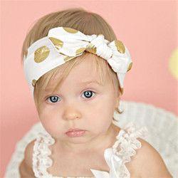 Bébé Infantile Bronzage Dot Bande De Cheveux Filles Bowknot Bandeau Photographie Props Enfants Accessoires Bandeau Bebe