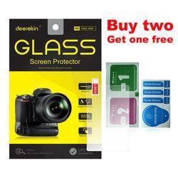 Deerekin 9H Tempered Glass LCD Screen Protector for Canon EOS 70D 77D 9000D 600D 80D / 6D Mark II / 6D MK2 Digital Camera