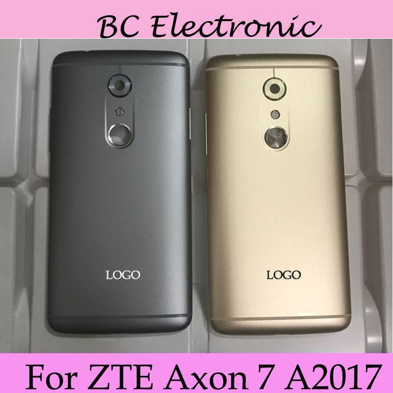 Mit LOGO Ursprüngliche Batterie Rückseitige Abdeckung Für ZTE AXON7 AXON 7 A2017 Gehäuse Tür Fall Ersatz Mit kamera glas Seite taste