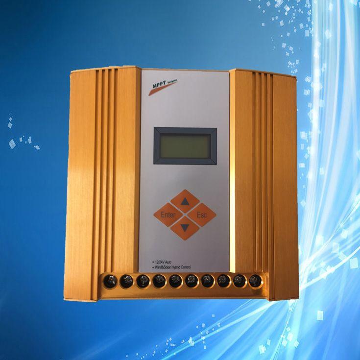 Max 900 watt MPPT Wind Solar Hybrid Controller (Max 600 watt Wind, Max 300 watt Solar), 12 v/24 v Automatisch Unterscheiden, LCD Display