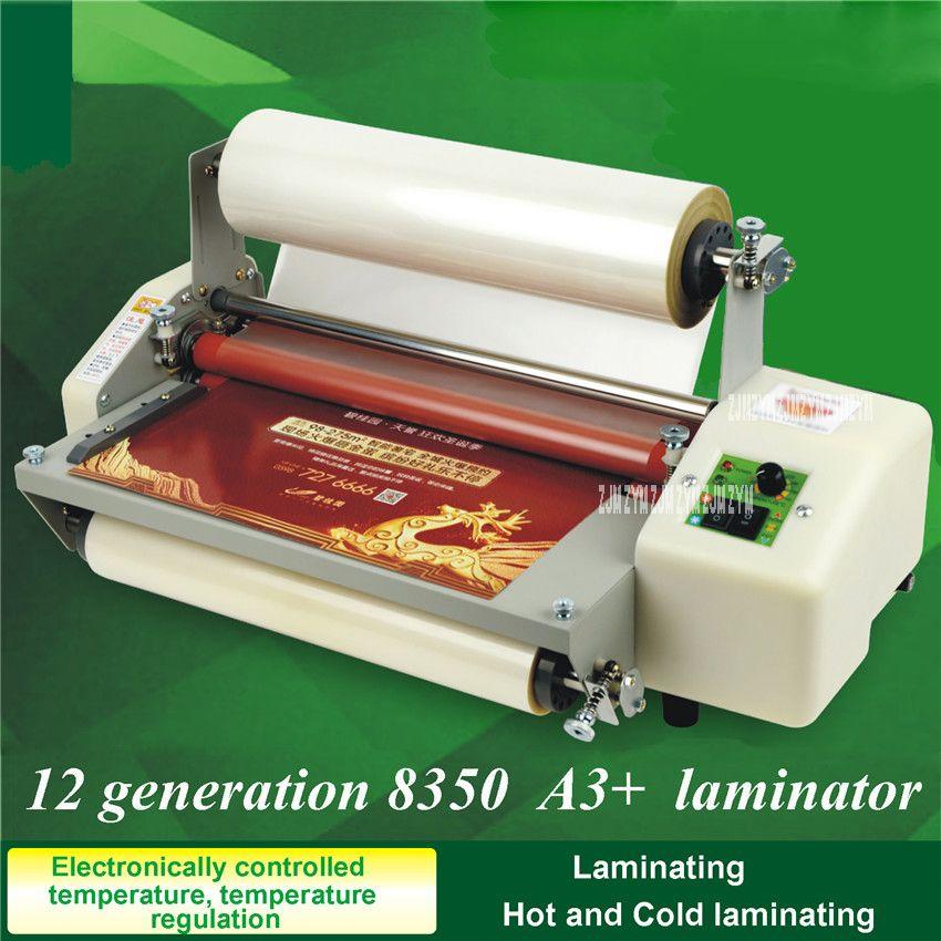 1 stück A3 + Neue 12 generation 8350 13 Laminator 220 v Vier Rollen Heiße Rolle Laminieren Maschine