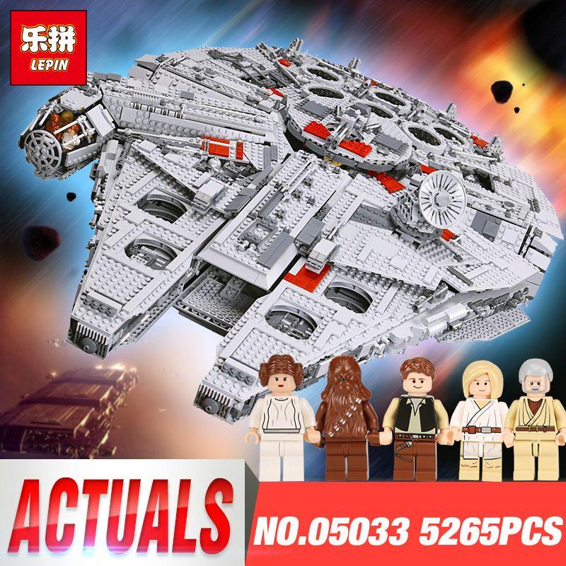 LEPIN 05033 Star Toys Wars Compatible 10179 Ultimate Collector's Millennium Falcon Model Building Blocks Bricks Set