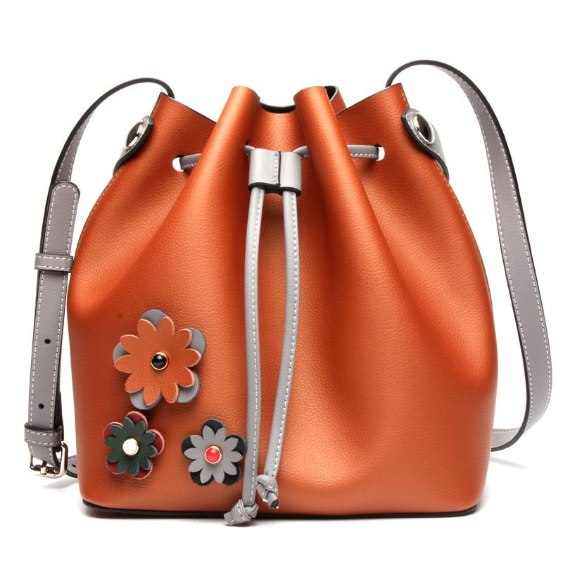 Newest TOP <font><b>quality</b></font> best bucket bag mansur women genuine leather shoulder bag gavriel lady real leather cross bag, free shipping