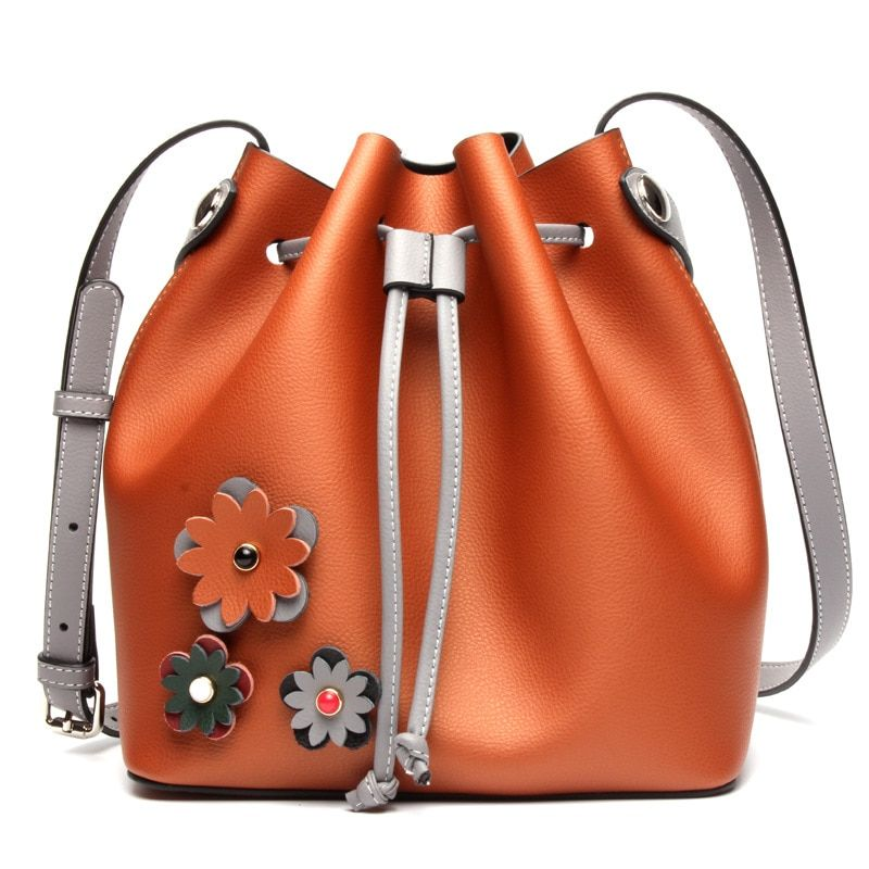 Newest TOP quality best bucket bag mansur women genuine leather shoulder bag gavriel lady real leather cross bag, free shipping