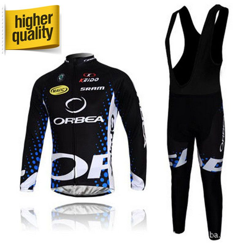 100% Polyester Black&Blue ORBEA Sportswear Mountain Bike Ropa Ciclismo Bicycle Wear Cycling Jerseys Long Sleeve Mtb Jersey Kit
