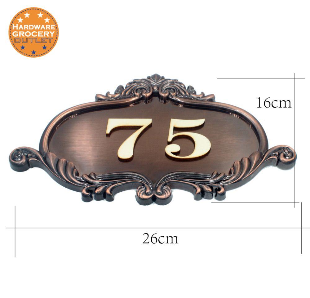 Numéro de maison signe de porte de style européen, numéro de porte sur mesure appartement Villa plaques de porte toutes les lettres, symboles, maison, hôtel
