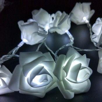 YIYANG Événements et Parties 2 M 20 De Mariage Roses LED Chaîne Lumières Batterie Décoration de Vacances Lumière Rosa LED Guirlande Lumineuse