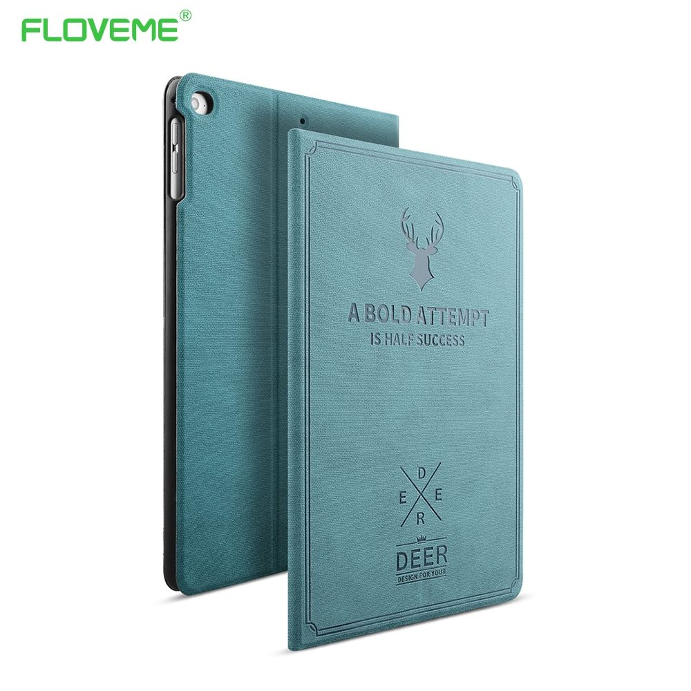 FLOVEME Für Apple iPad Mini 1 2 3 4 Fall Auto-Sleep/Wake Up Flip PU Leder Abdeckungs-fälle Für iPad Air 2 1 Intelligente Standplatz-folio Fall